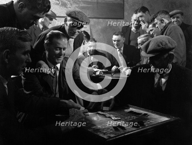 Miners socialising at the miners' welfare club, Horden Colliery, Sunderland, Tyne and Wear, 1964. Artist: Michael Walters