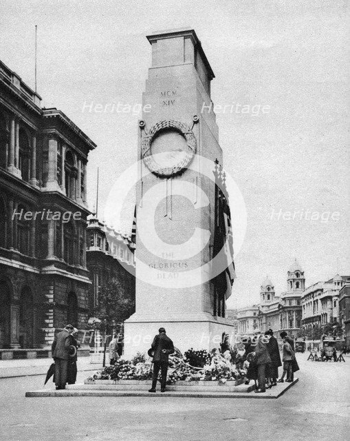 The Cenotaph, Whitehall, London, 1926-1927. Artist: McLeish