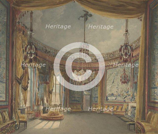 The Saloon, Brighton Pavilion, ca. 1826. Creator: Augustus Charles Pugin.