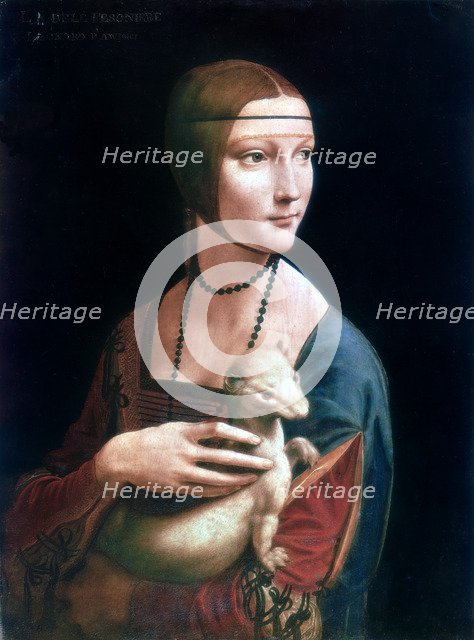 'Portrait of Cecilia Gallerani, Lady with an Ermine', c1490. Artist: Leonardo da Vinci