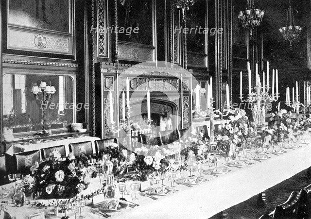 The Speaker's State Dining Room, House of Commons, Westminster, London, c1905. Artist: Unknown