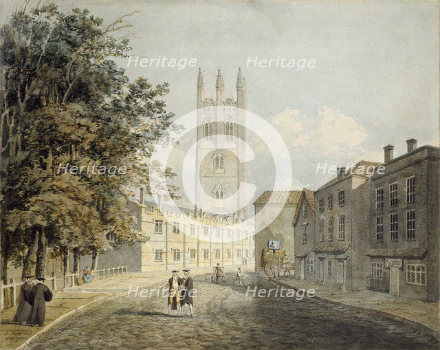 Magdalen College and the Eastern End of the High Street, Oxford, 1795. Artist: Rev Robert Nixon.