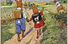 Thumbnail image of The walk to school, 1924.  Artist: Fritz Kock-Gotha