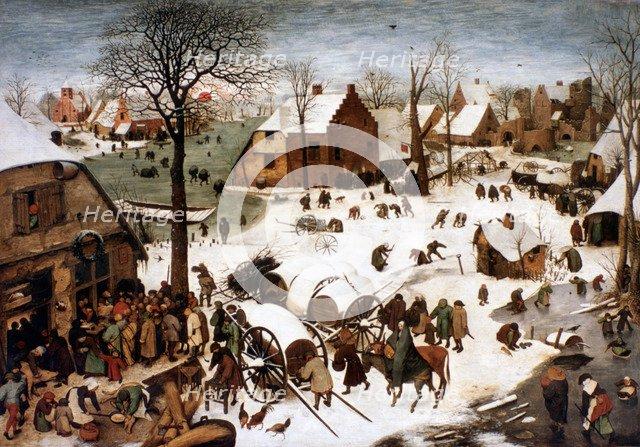 'The Numbering at Bethlehem', 1566. Artist: Pieter Bruegel the Elder