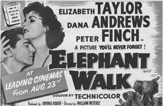Thumbnail image of Film promo for Elephant Walk, starring Elizabeth Taylor, Dana Andrews and Peter Finch, 1954. Artist: Unknown