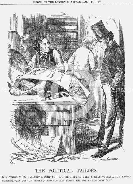 'The Political Tailors', 1867. Artist: John Tenniel