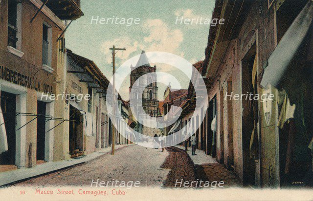 'Maceo Street, Camaguey, Cuba', 1944. Artist: Unknown.