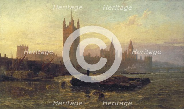 'The Palace of Westminster', 1892. Artist: George Vicat Cole