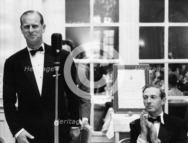Lionel Cohen and the Duke of Edinburgh at the Jewish Welfare Board Dinner, 1964. Artist: Unknown