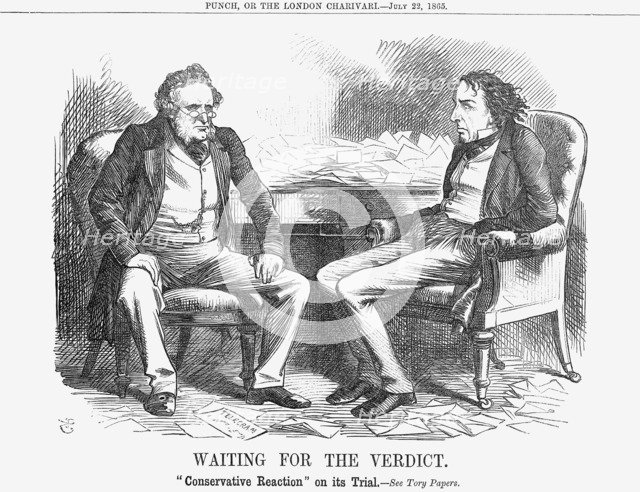 'Waiting for the Verdict', 1865. Artist: John Tenniel