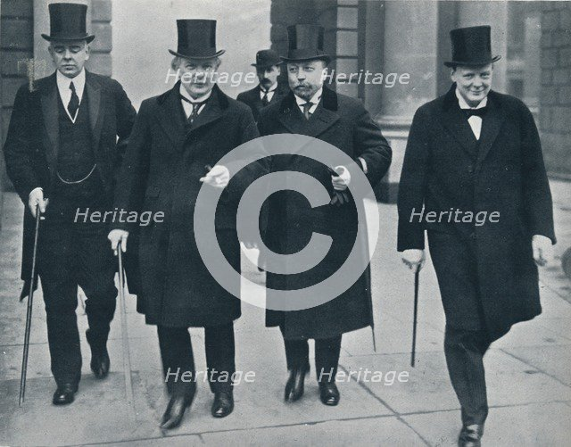 Russian Minister of Finance in England: M. Bark on his way to the House of Commons, 1914. Artist: Unknown