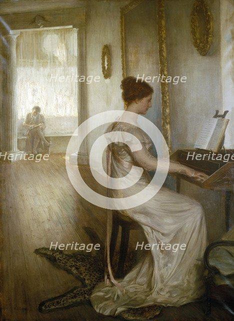 'A sonata of Beethoven', c1868-1918. Artist: Alfred Edward Emslie