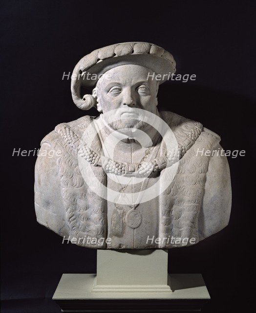 Bust of Henry VIII, early 17th century. Artist: Unknown.