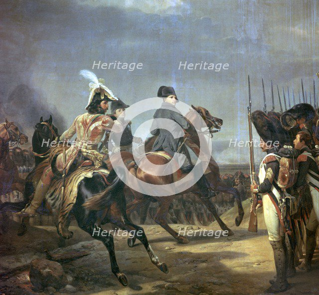 Painting of Napoleon at the battle of Jena, 19th century. Creator: Émile Jean-Horace Vernet.