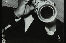 Thumbnail image of Legendary jazz clarinetist and saxophonist Sidney Bechet at Colston Hall, Bristol, 1956. Artist: Denis Williams