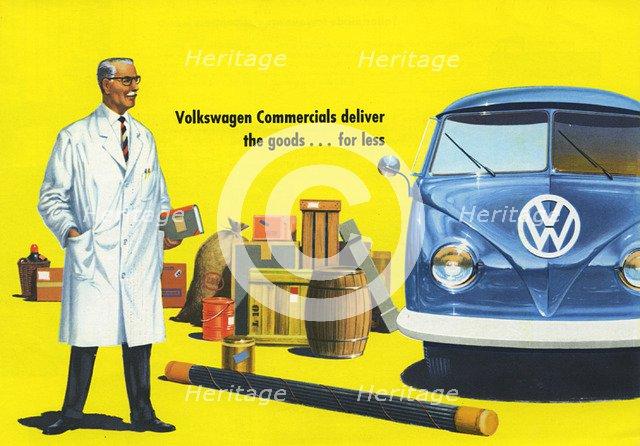 1960 Volkswagen commercial vehicle brochure Artist: Unknown.