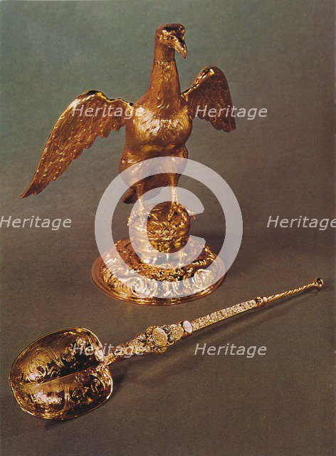'Ampulla and Spoon', 1953. Artist: Unknown.