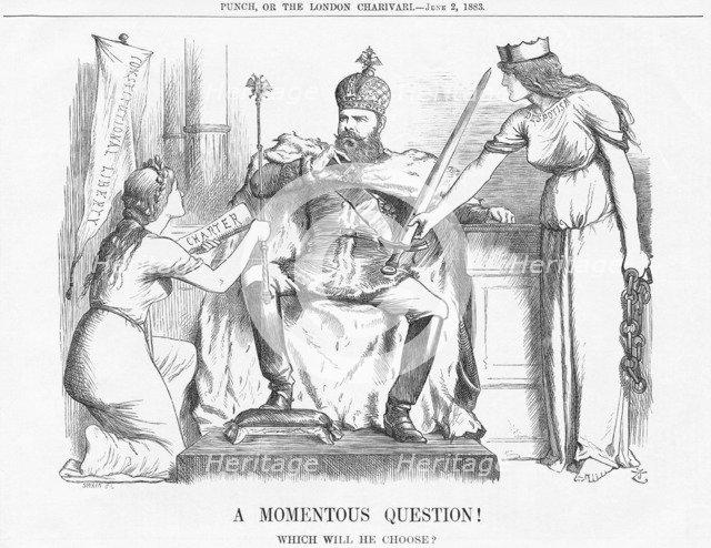 'A Momentous Question!', 1883. Artist: Joseph Swain
