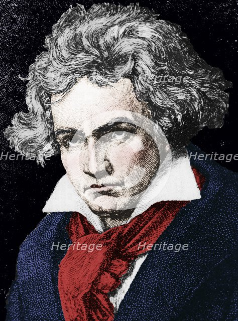 Ludwig van Beethoven (1770-1827), German composer and pianist, 19th century. Artist: Unknown.