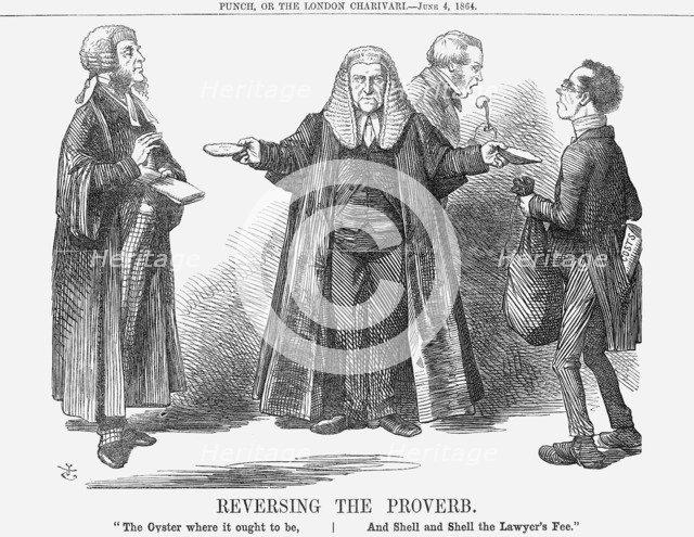 'Reversing the Proverb', 1864. Artist: John Tenniel