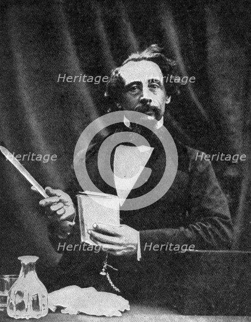 Charles Dickens giving a reading, 1859 (1912). Artist: Herbert Watkins