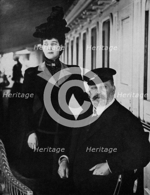 King Edward VII and Queen Alexandra at Cowes, Isle of Wight, August 1909 (1964). Artist: Unknown