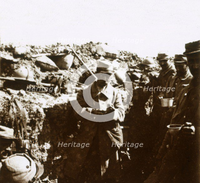 Front line trenches, c1914-c1918. Artist: Unknown.