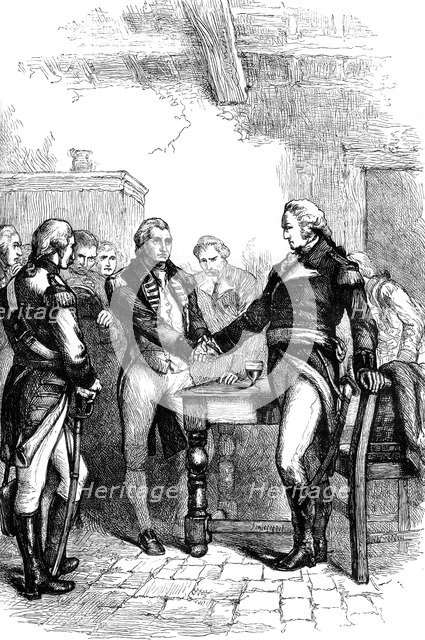 Washington taking leave of his old comrades, 1783 (c1880). Artist: Unknown