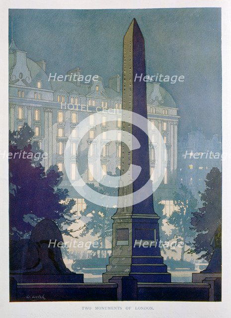 'Two Monuments of London', advert for the Hotel Cecil, 1925. Creator: W Welsh.