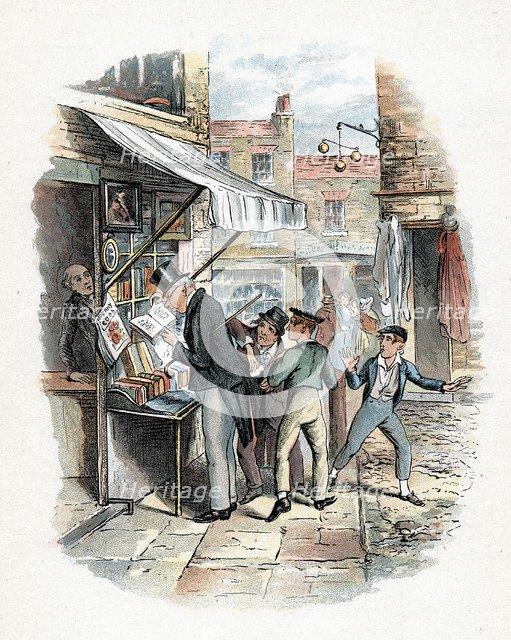 Scene from Oliver Twist by Charles Dickens, 1837-1839. Artist: George Cruikshank