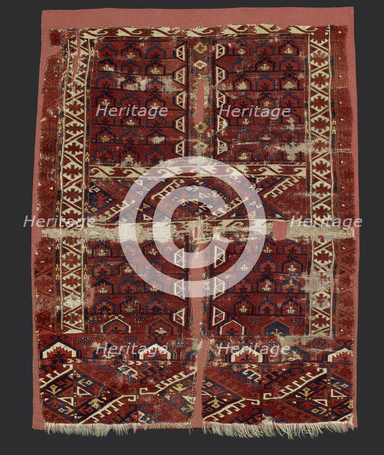 Turkmen Ersari carpet, 18th century, (1701-1800). Artist: Unknown.