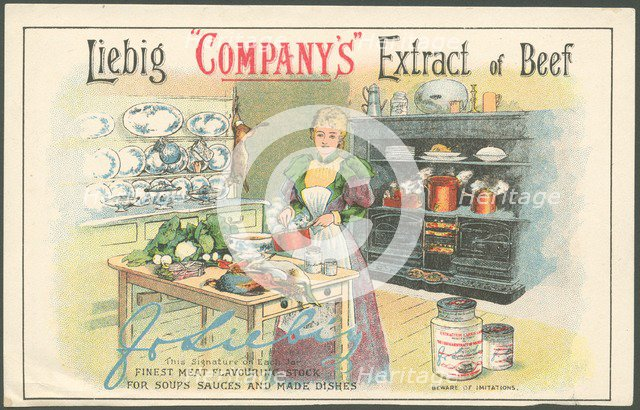 Liebig Company Meat extract, 1880s. Artist: Unknown