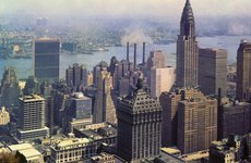Thumbnail image of Looking southeast from the RCA Building, New York City, New York, USA, 1956. Artist: Unknown