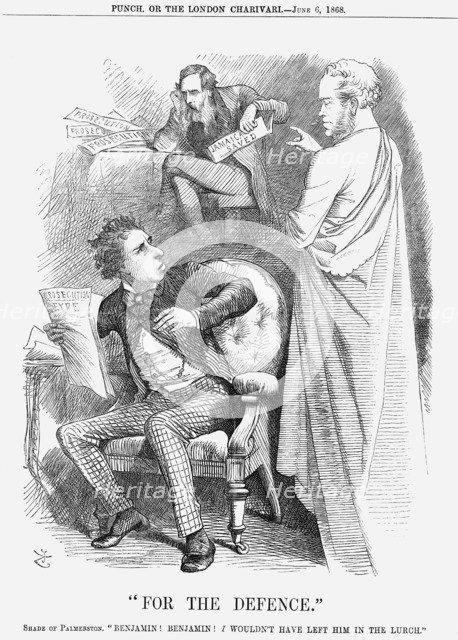 For the Defence, 1868. Artist: John Tenniel