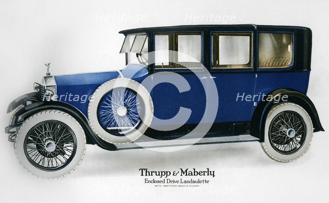 Rolls-Royce enclosed drive landaulette with partition behind the driver, c1910-1929(?). Artist: Unknown