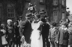 Thumbnail image of 'Kissing Day', Hungerford, Berkshire, c1900s(?). Artist: Unknown