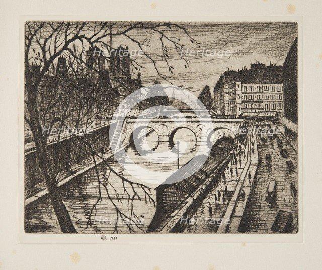 Notre Dame, Les Quais de Paris, pub. 1931. Creator: Christopher Richard Wynne Nevinson(1889– 1946).