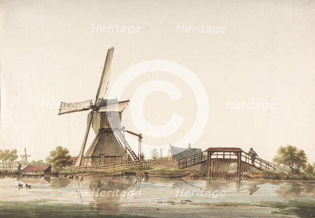 Landscape with Windmill, late 18th century. Creator: Anthonie Erkelens.