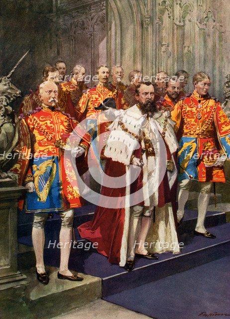 Officers of the Heralds' College, Coronation ceremony. Artist: Frederic de Haenen
