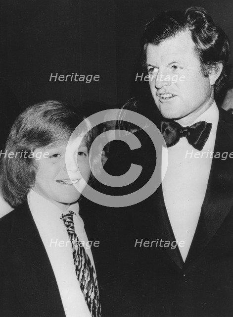 Senator Edward Kennedy with his son Edward Jr at the Washington premiere of 'Funny Lady', 1975. Artist: Unknown