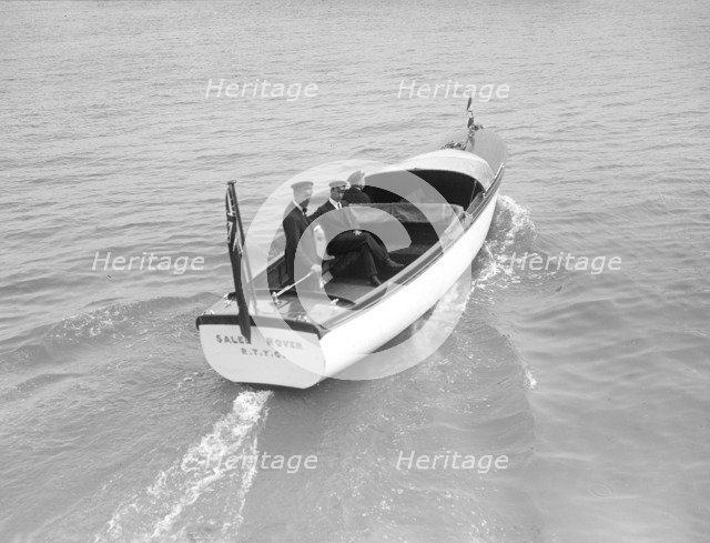 The Royal Thames Yacht Club's motor launch 'Salee Rover', 1912. Creator: Kirk & Sons of Cowes.