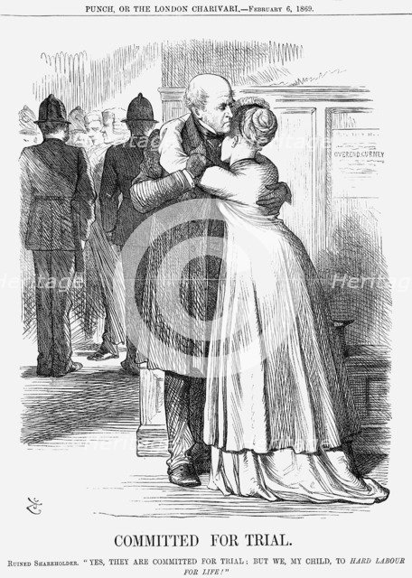 'Committed for Trial', 1869. Artist: John Tenniel