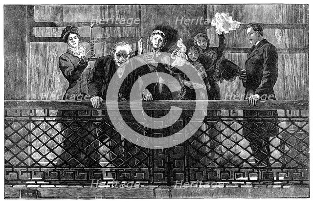 'Mr Gladstone Addressing the Crowd from the Balcony', late 19th century. Artist: Unknown