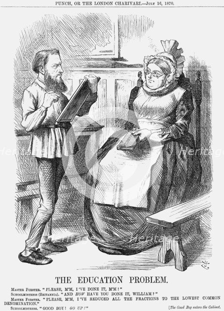 'The Education Problem', 1870. Artist: Joseph Swain