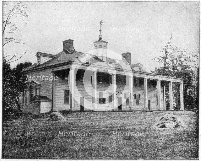 George Washington's home, Mount Vernon, Virginia, late 19th century. Artist: John L Stoddard