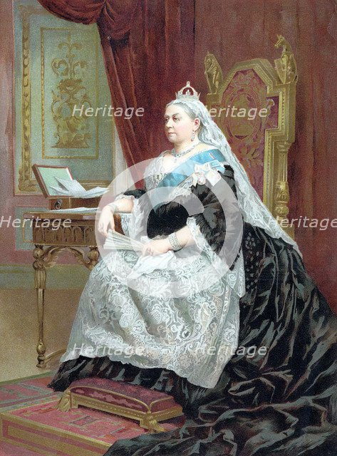 Queen Victoria (1819-1901) at the time of her Golden Jubilee, 1887. Artist: Unknown