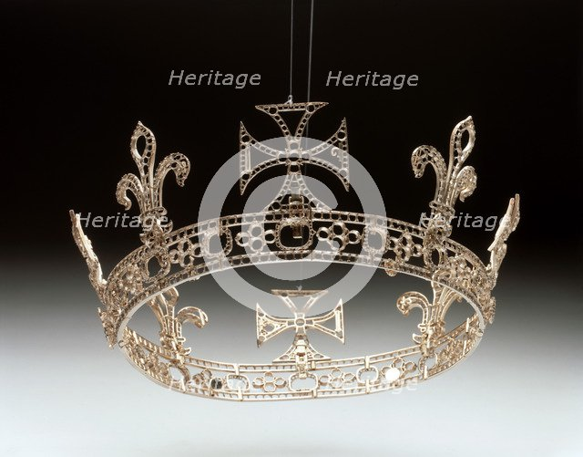 Queen Victoria's Grand or Regal Circlet re-made for Queen Victoria by Garrard's in 1858. Artist: Unknown