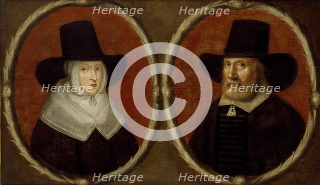 Portrait of a Couple, said to be John Tradescant the Elder and his Wife Elizabeth, c1630. Artist: Unknown.
