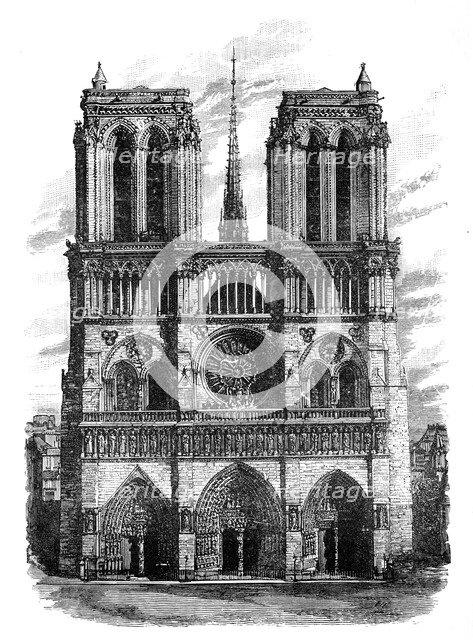 Notre Dame, Paris, c1888. Artist: Unknown