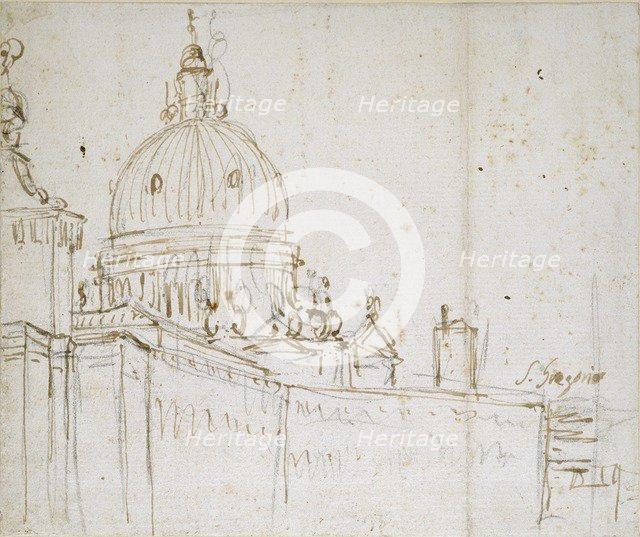 Venice: The Dogana di Mare and S. Maria della Salute, mid 18th century. Artist: Canaletto.